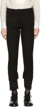 Ann Demeulemeester Black Layered Hem Trousers