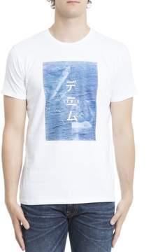 Edwin White Cotton T-shirt