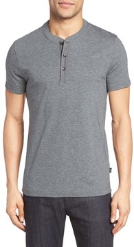 BOSS Men's Tiller Denim Trim Henley