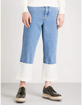 Loewe Fisherman wide cropped mid-rise jeans