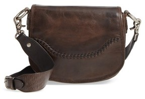 Frye Melissa Leather Saddle Bag - Brown