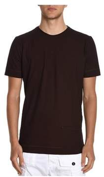 H953 Men's Burgundy Cotton T-shirt.