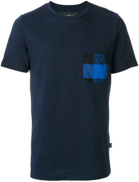 Hydrogen checked pocket T-shirt