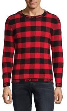 Moschino Checkered Wool Sweater
