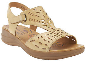 Bare Traps As Is BareTraps Jordy Perforated Leather Adj. Strap Sandal