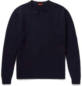 Barena Slim-Fit Basketweave Wool-Blend Sweater