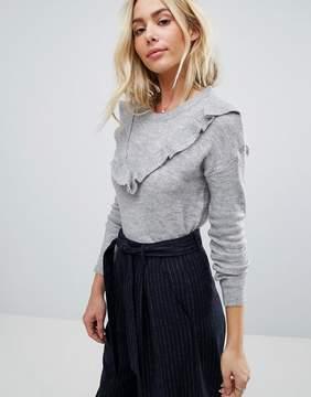 Brave Soul Frill Crew Neck Sweater