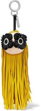 Fendi Fringed Leather Bag Charm - Yellow