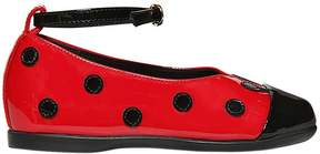 Dolce & Gabbana Ladybug Patent Leather Ballerina Flats