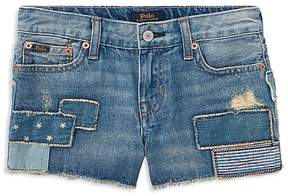 Polo Ralph Lauren Girls' Patchwork Denim Shorts - Little Kid