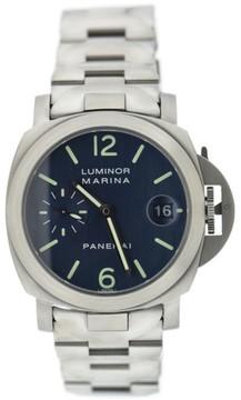Panerai Luminor Marina PAM69 Stainless Steel Blue Dial 40mm Mens Watch