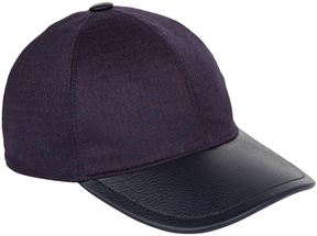 Stefano Ricci Houndstooth Leather Cap