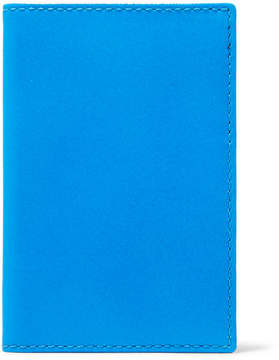 Comme des Garcons Super Fluo Neon Leather Cardholder - Bright blue