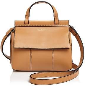Tory Burch Block-T Mini Leather Satchel - AGED VACHETTA/GOLD - STYLE