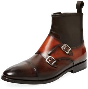 Antonio Maurizi Men's Double Monk Leather Boot