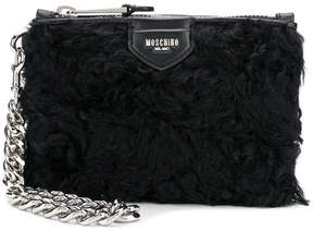 Moschino curly clutch