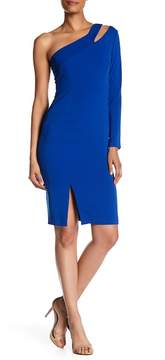 Laundry by Shelli Segal One Shoulder Cocktail Dress