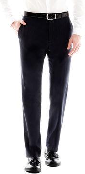 Jf J.Ferrar Men's JF Navy Flat-Front Variegated Stripe Slim Fit Suit Pants
