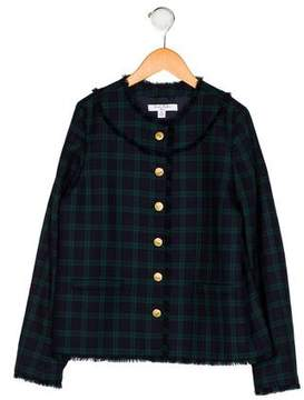 Brooks Brothers Girls' Plaid Button-Up Jacket