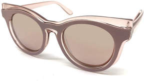 Fantas-Eyes Fantas Eyes Layered Look Full Frame Cat Eye UV Protection Sunglasses-Womens