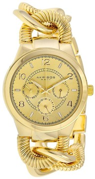 Akribos XXIV Multi-FunctionGold-tone Alloy Ladies Watch
