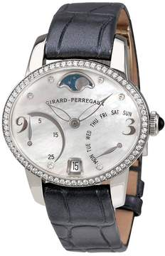 Girard Perregaux Cats Eye Mother of Pearl Diamond 18K White Gold Automatic Ladies Watch