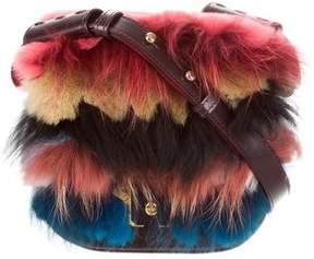 Paula Cademartori 2015 Fur-Trimmed Beth Shoulder Bag