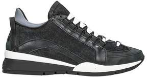 DSQUARED2 551 Black Leather And Suede Sneakers