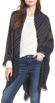 Sole Society Women's Textured Stripe Blanket Scarf