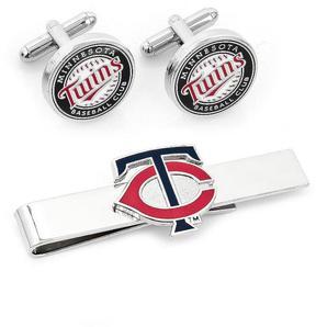 Ice Minnesota Twins Cufflinks and Tie Bar Gift Set