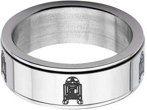 Star Wars FINE JEWELRY Stainless Steel R2D2 Spinner Ring