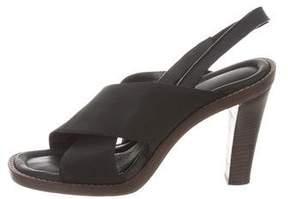 Proenza Schouler Leather-Trimmed Slingback Sandals