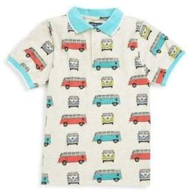 Andy & Evan Little Boy's Vintage Van Pinrt Polo Shirt