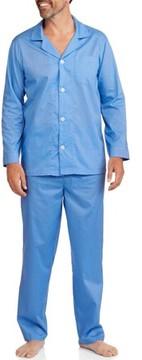 Fruit of the Loom Big Men's Long Sleeve Long Pant Solid Pajama