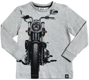 Molo Moto Printed Cotton Jersey T-Shirt