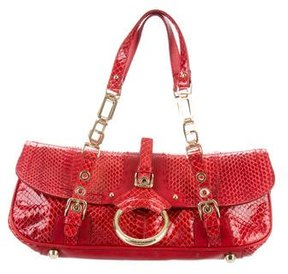Dolce & Gabbana Snakeskin Handle Bag - RED - STYLE