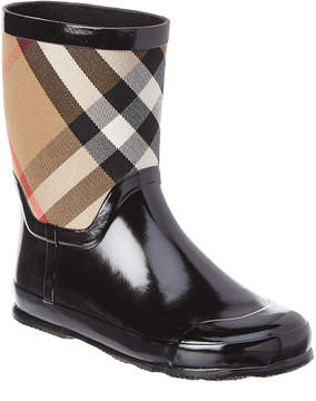 Burberry Kids' House Check Panel Rain Boot