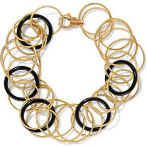 Buccellati Hawaii 18-karat Gold Onyx Bracelet