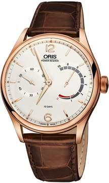Oris Artelier Silver Dial 18kt Rose Gold Men's Watch