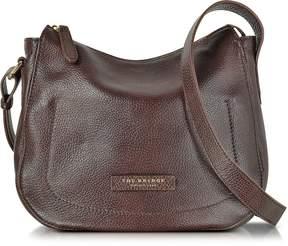 The Bridge Plume Soft Donna Dark Brown Leather Shoulder Bag