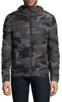 Belstaff Hooded Camo Puffer Jacket