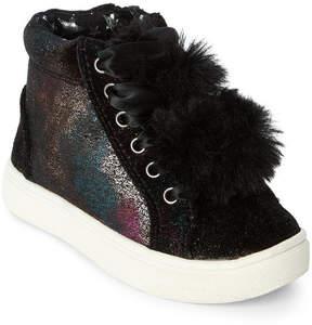 Steve Madden Toddler Girls) Black JBrielle Pom-Pom High Top Sneakers