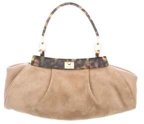 Salvatore Ferragamo Suede Handle Bag