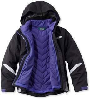 L.L. Bean L.L.Bean Girls' Peak Waterproof Insulated 3-in-1 Jacket
