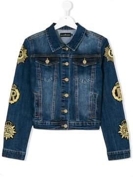 John Richmond Kids crest sleeve denim jacket