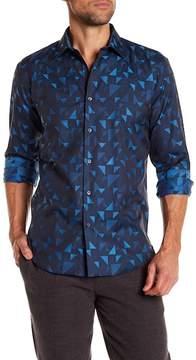 Bugatchi Shaped Fit Triangle Shirt