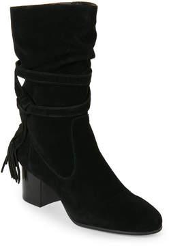 Tahari Black Johnny Tasseled Slouchy Boots