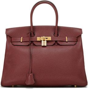 Hermes Vintage Rouge Birkin Togo Leather Satchel Bag, Red - RED - STYLE