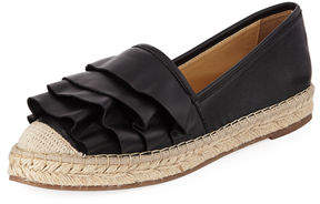 Neiman Marcus Insight Ruffle Leather Espadrille