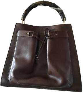 Gucci Bamboo leather tote - BROWN - STYLE